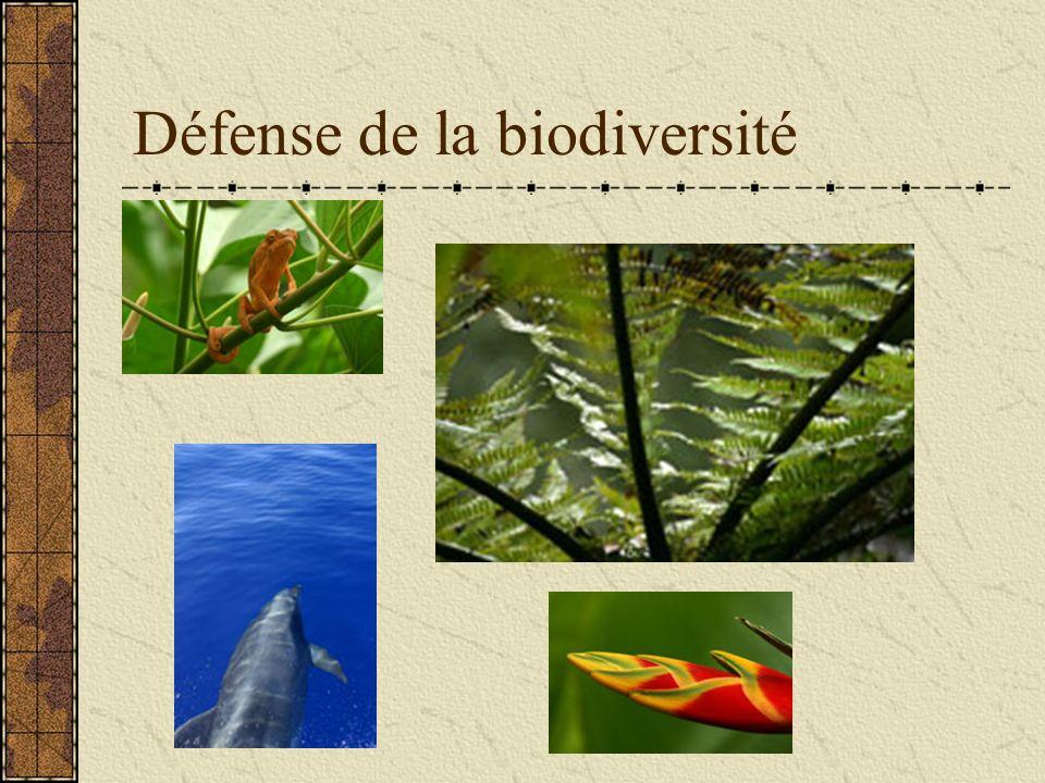 Défense de la biodiversité