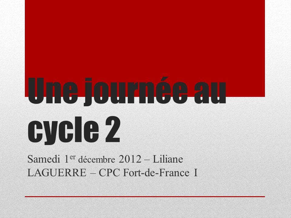 Samedi 1er décembre 2012 – Liliane LAGUERRE – CPC Fort-de-France I