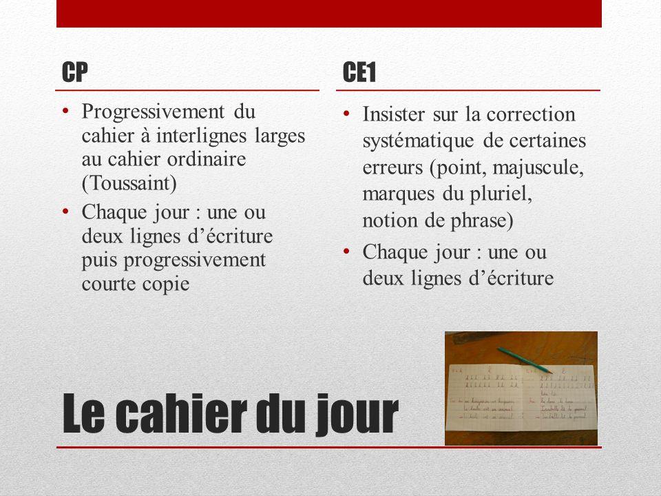CP CE1. Progressivement du cahier à interlignes larges au cahier ordinaire (Toussaint)