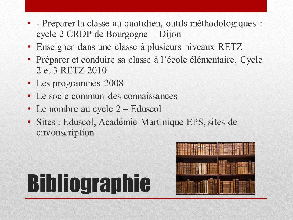 - Préparer la classe au quotidien, outils méthodologiques : cycle 2 CRDP de Bourgogne – Dijon