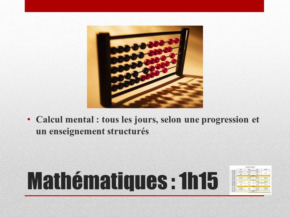 Calcul mental : tous les jours, selon une progression et un enseignement structurés