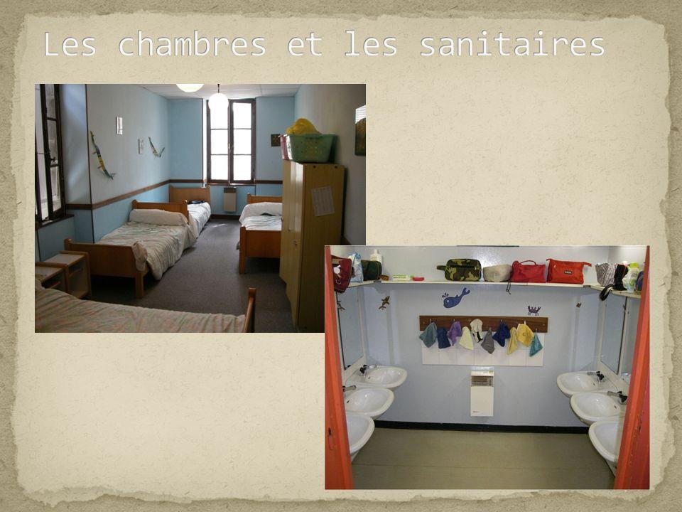 Les chambres et les sanitaires