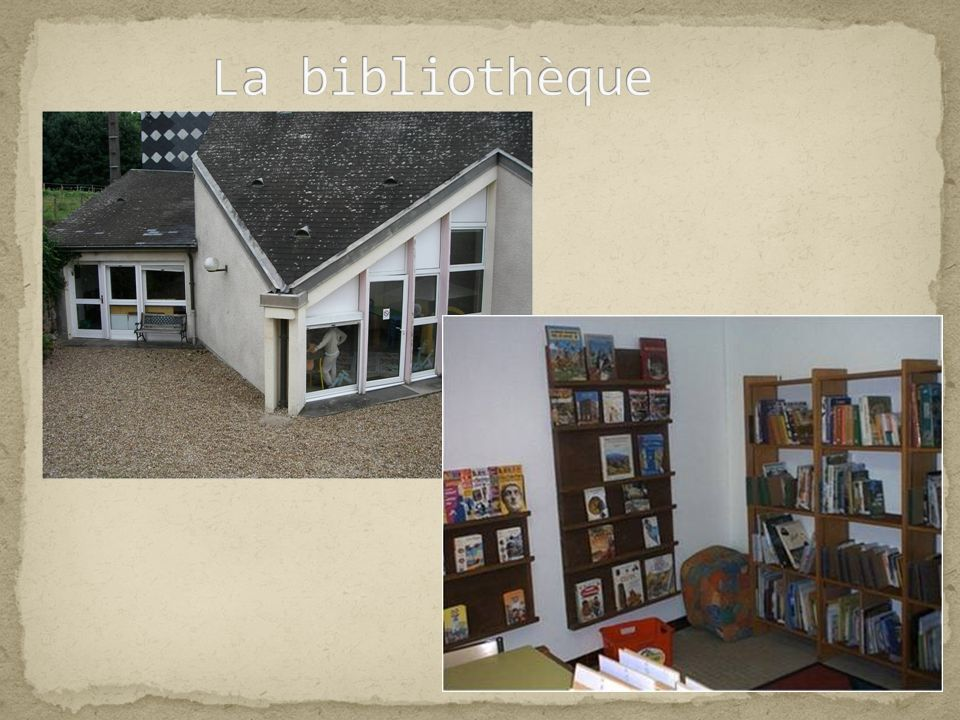 La bibliothèque .