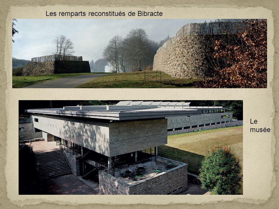 Les remparts reconstitués de Bibracte