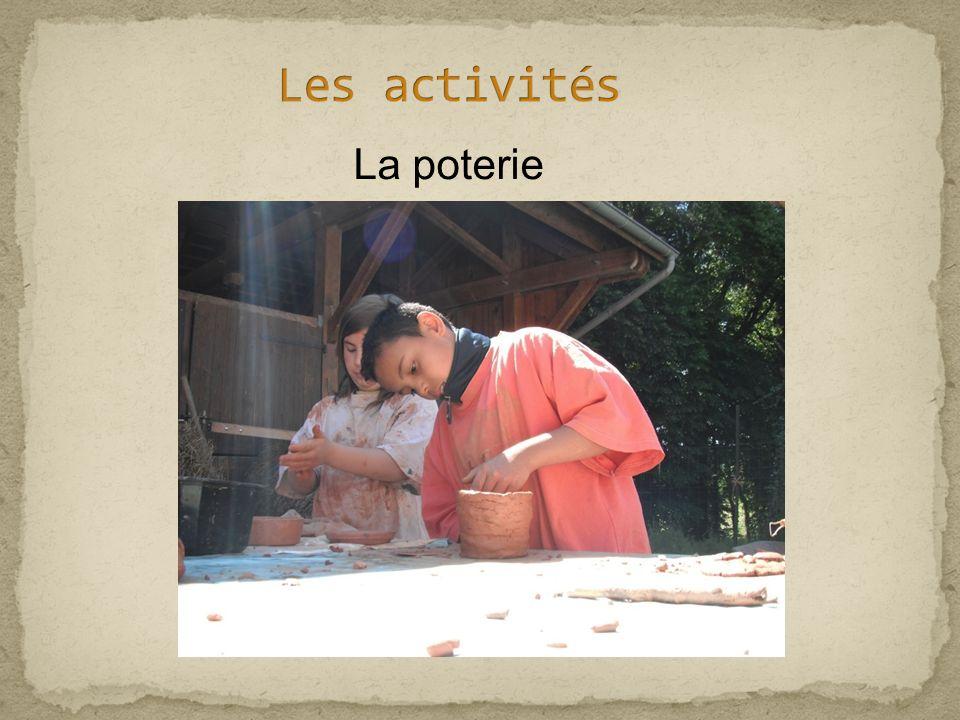 Les activités La poterie