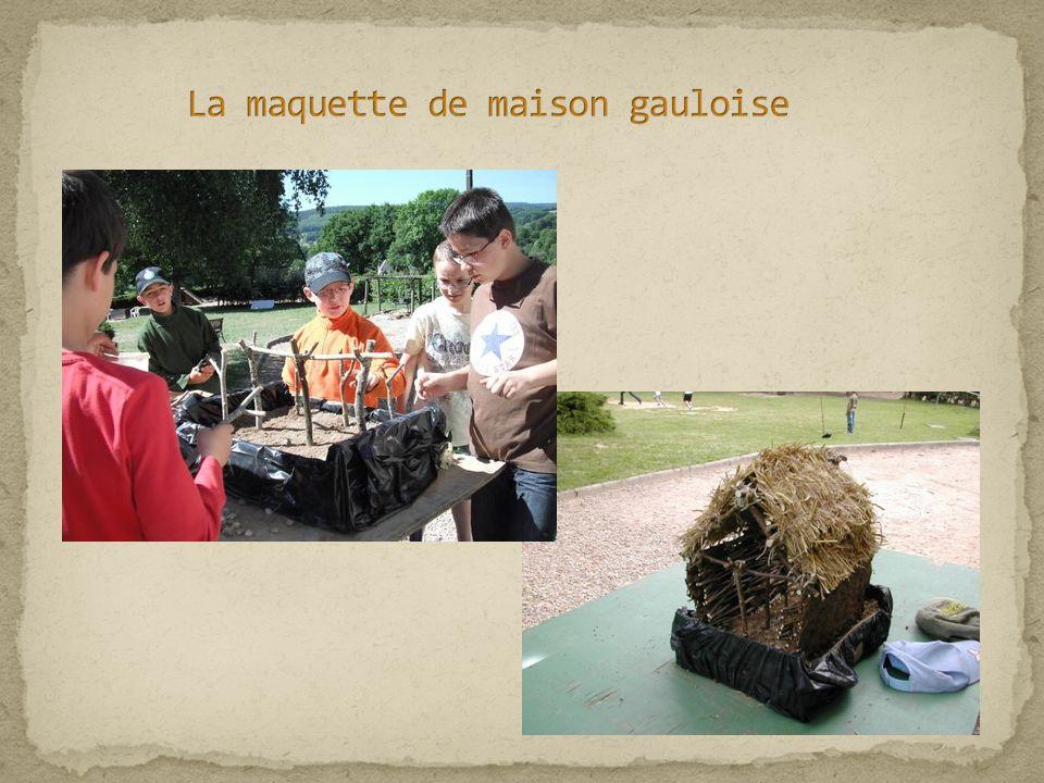 La maquette de maison gauloise