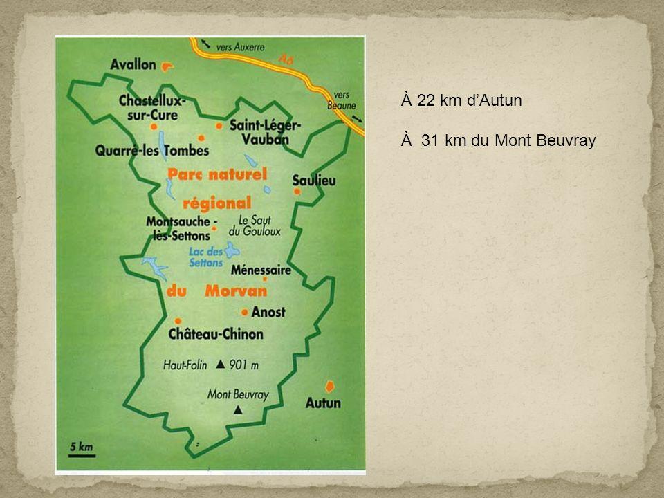 À 22 km d'Autun À 31 km du Mont Beuvray
