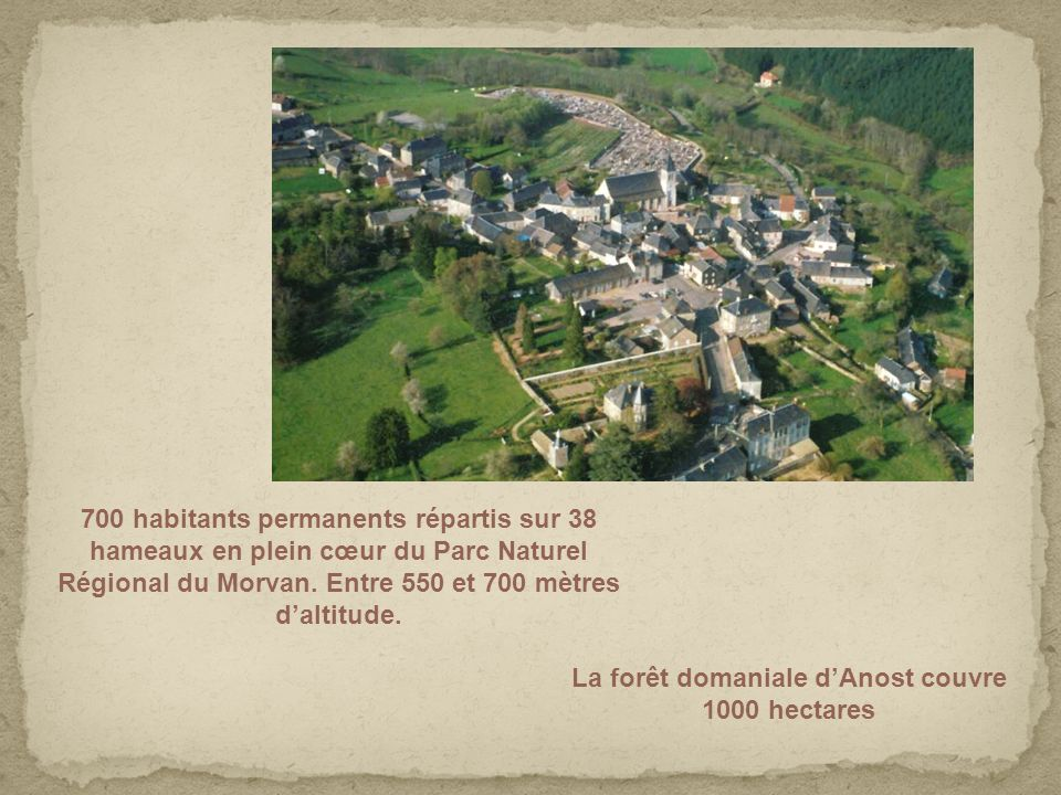 La forêt domaniale d'Anost couvre 1000 hectares