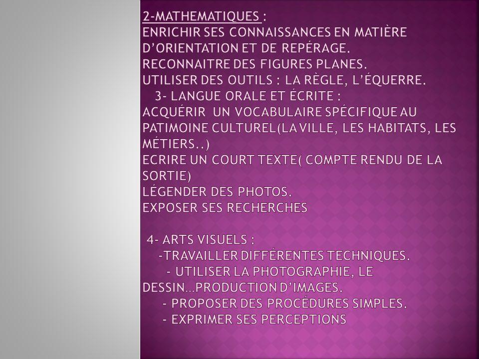 2-Mathematiques : Enrichir ses connaissances en matière d'orientation et de repérage.