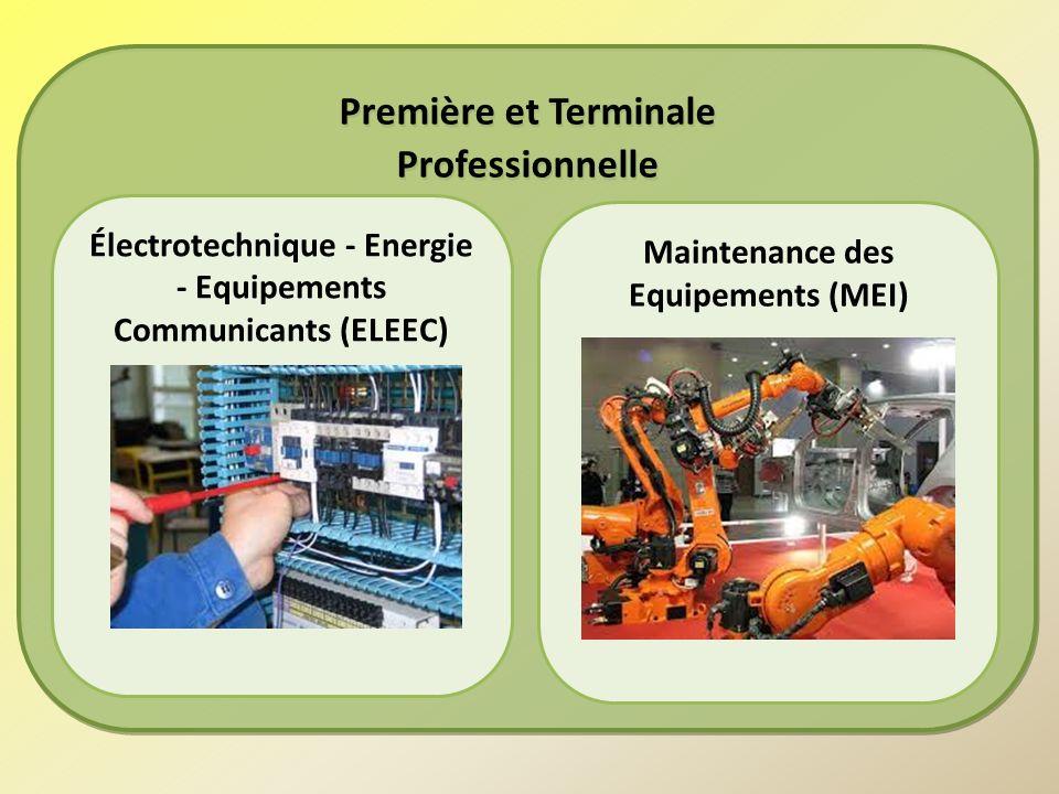 Première et Terminale Professionnelle