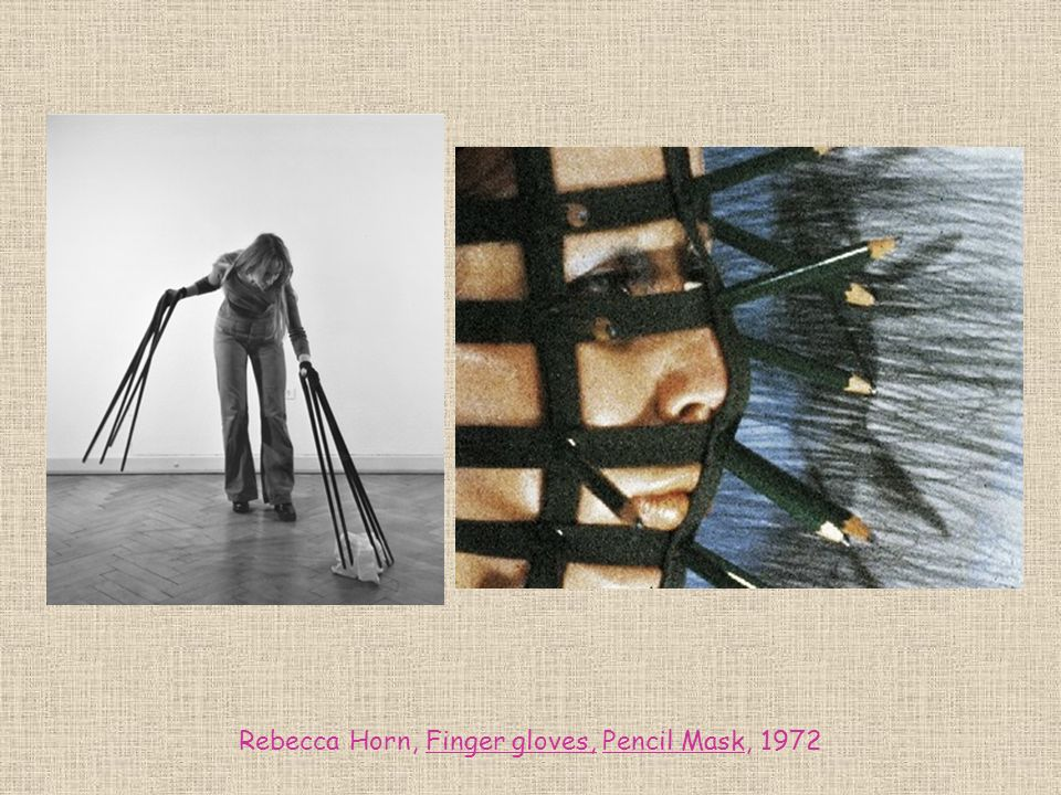 Rebecca Horn, Finger gloves, Pencil Mask, 1972