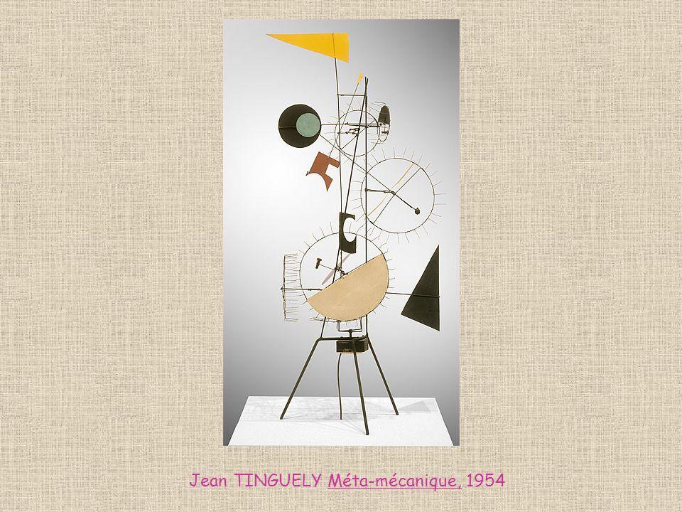 Jean TINGUELY Méta-mécanique, 1954