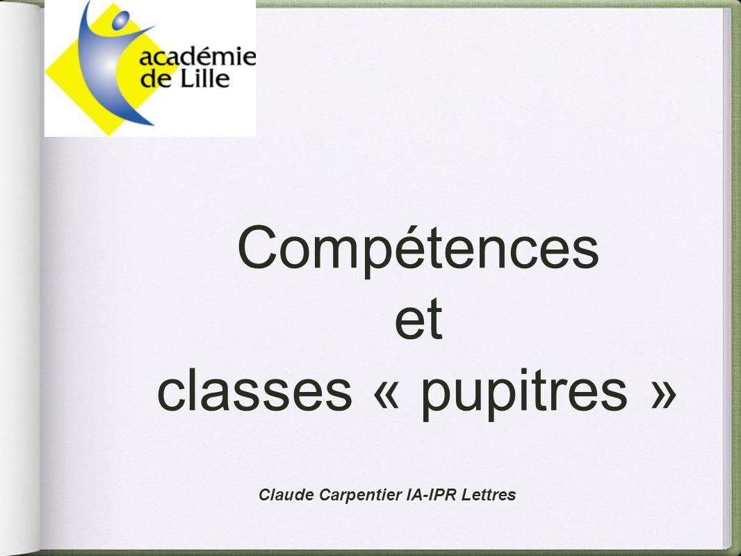 Compétences et classes « pupitres »