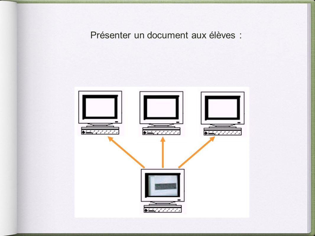 Présenter un document aux élèves :
