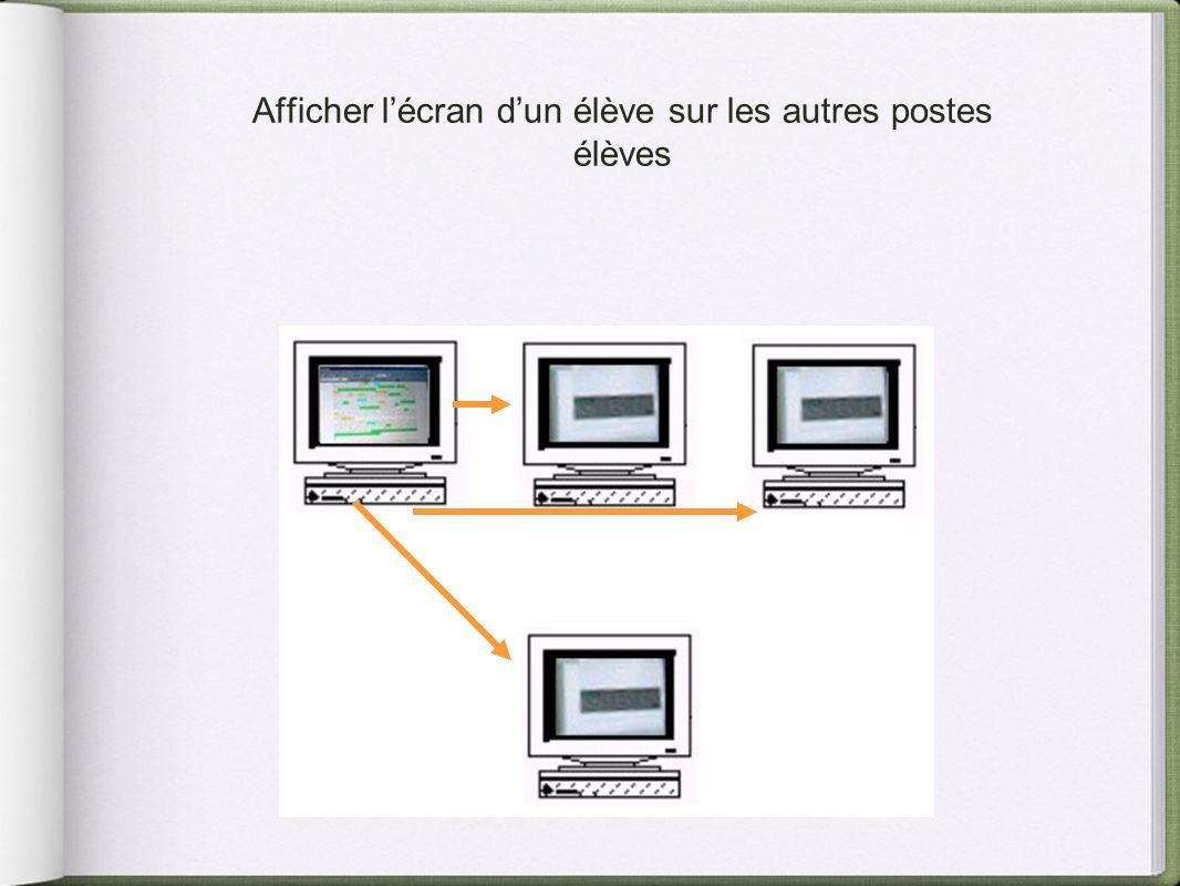 Afficher l'écran d'un élève sur les autres postes élèves