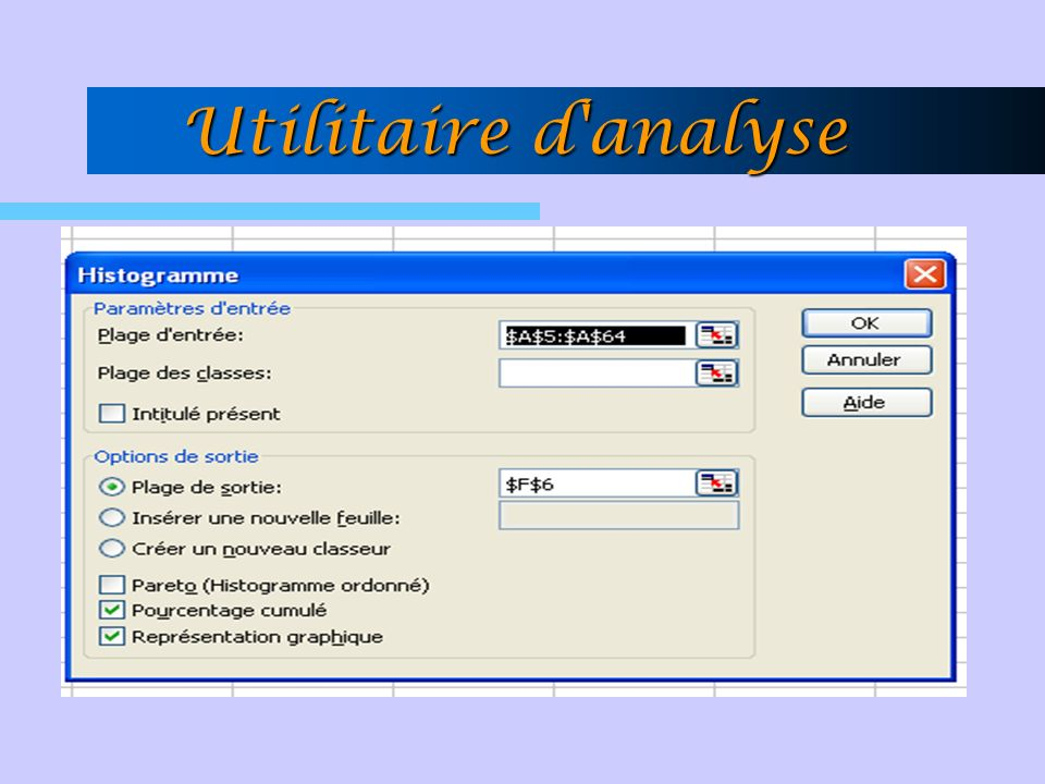 Utilitaire d analyse