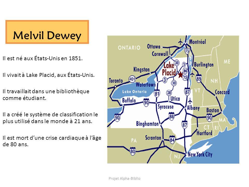 Melvil Dewey Il est né aux États-Unis en 1851.
