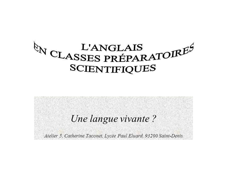 EN CLASSES PRÉPARATOIRES SCIENTIFIQUES