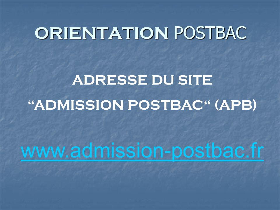 ADMISSION POSTBAC (APB)