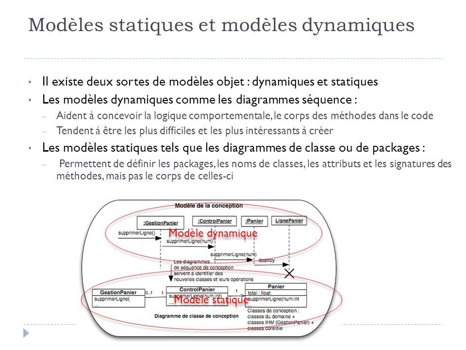 Modèles statiques et modèles dynamiques