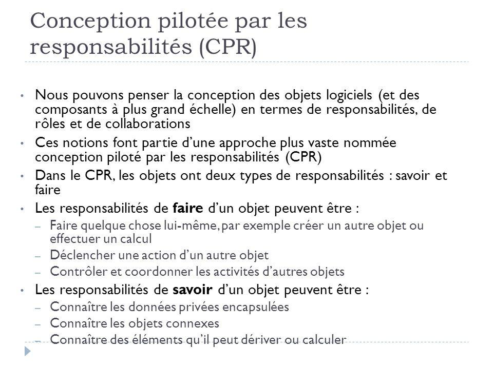 Conception pilotée par les responsabilités (CPR)