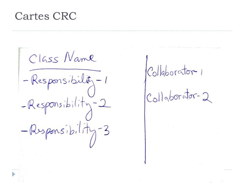 Cartes CRC - lien responsabilité et diagramme d'interaciton : interaction autour de la table