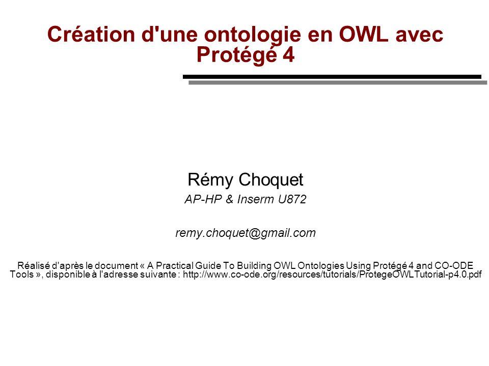 Création d une ontologie en OWL avec Protégé 4