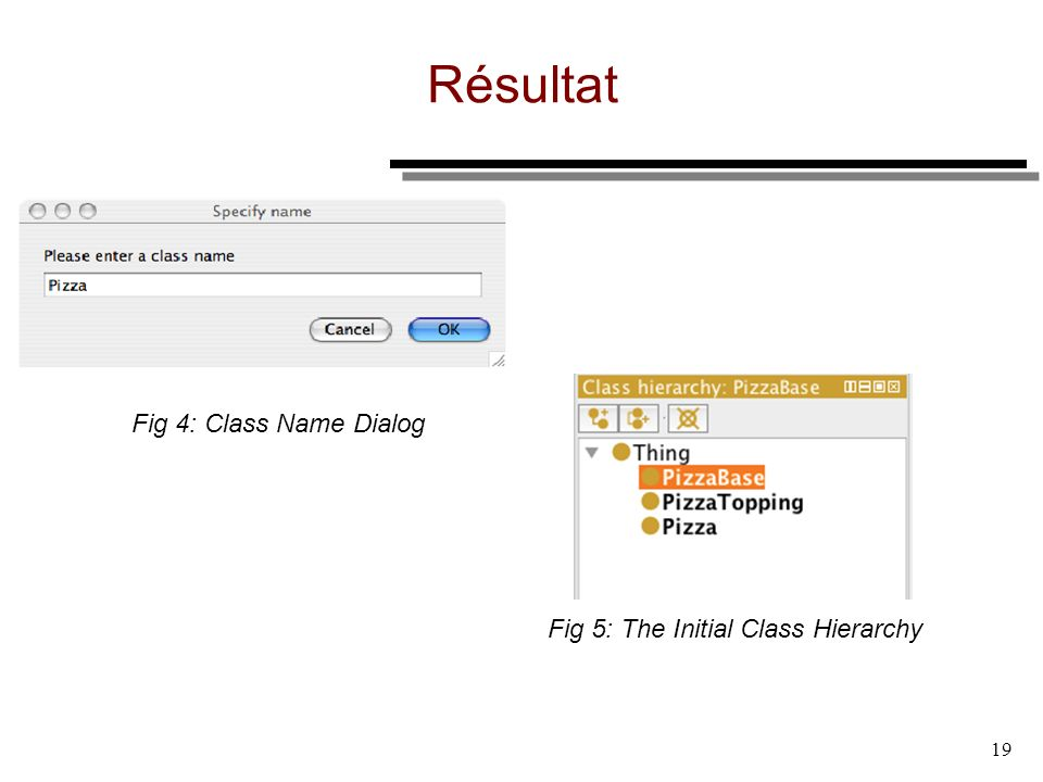 Résultat Fig 4: Class Name Dialog Fig 5: The Initial Class Hierarchy