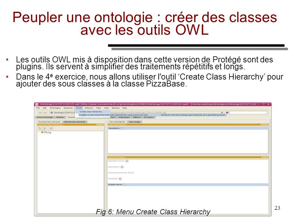 Peupler une ontologie : créer des classes avec les outils OWL