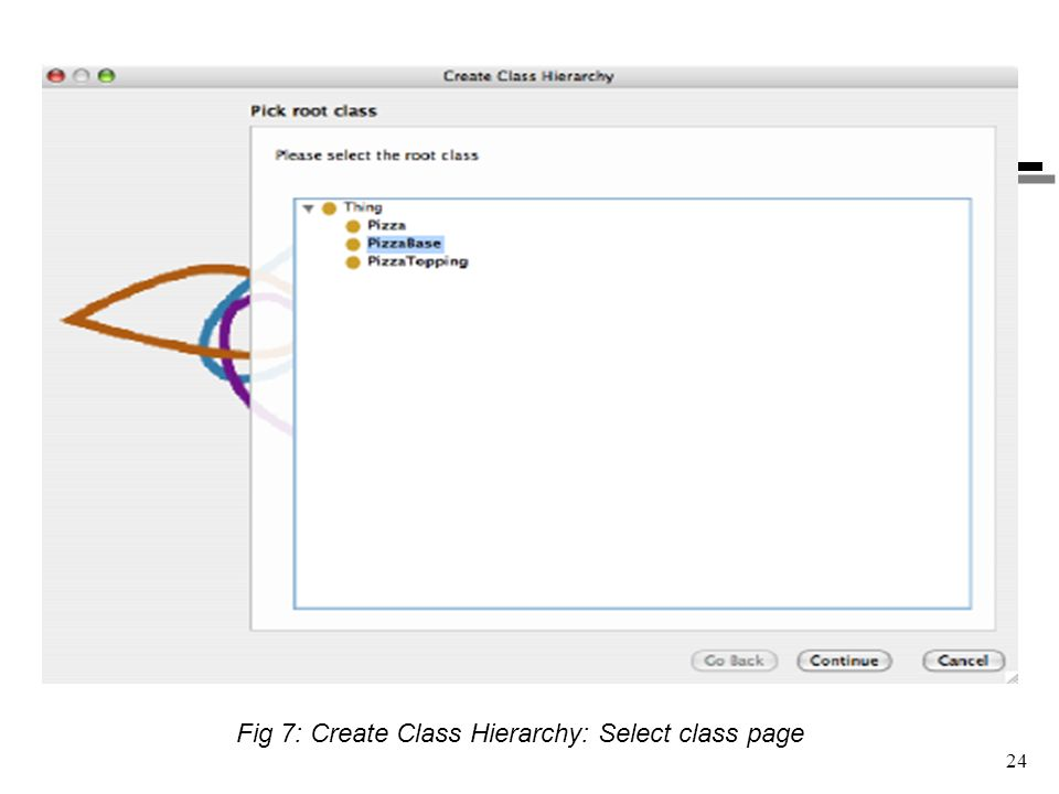 Fig 7: Create Class Hierarchy: Select class page