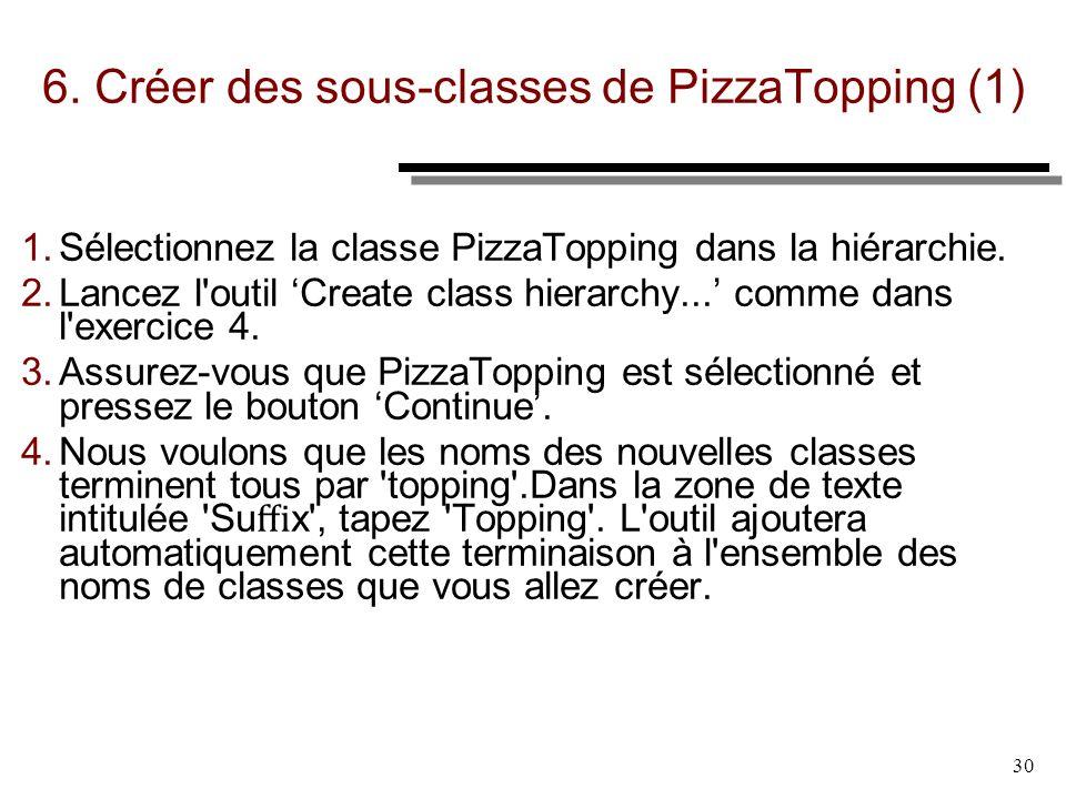 6. Créer des sous-classes de PizzaTopping (1)