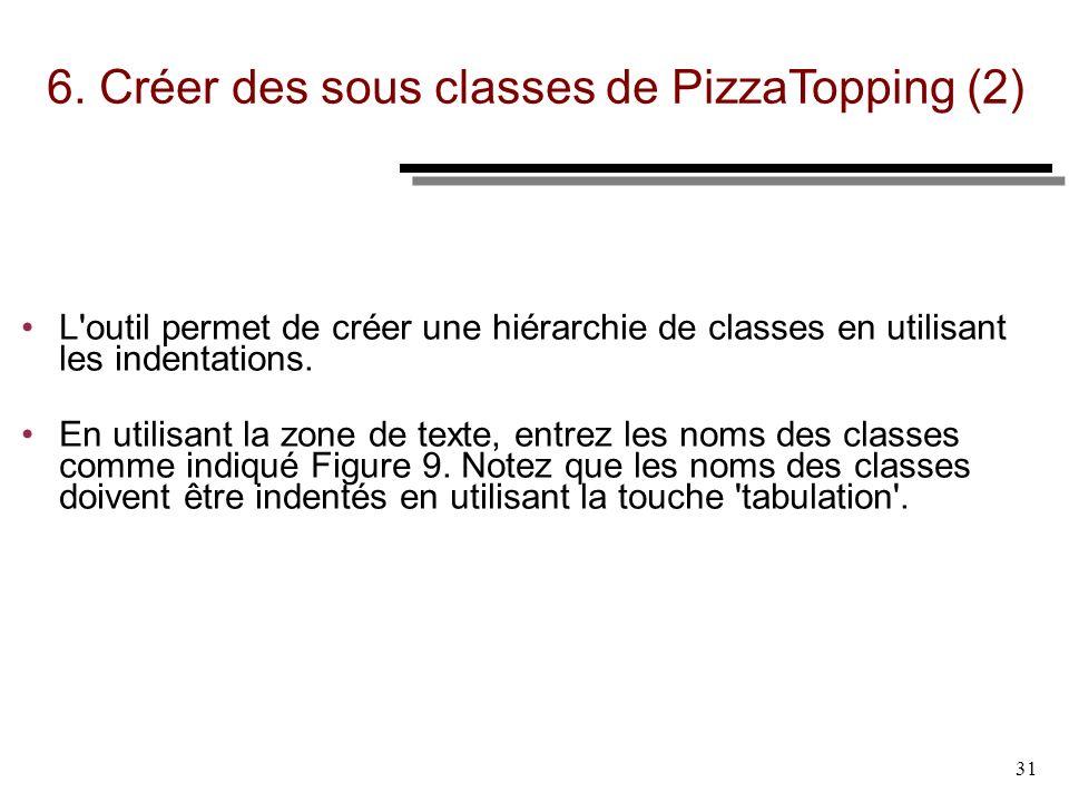 6. Créer des sous classes de PizzaTopping (2)