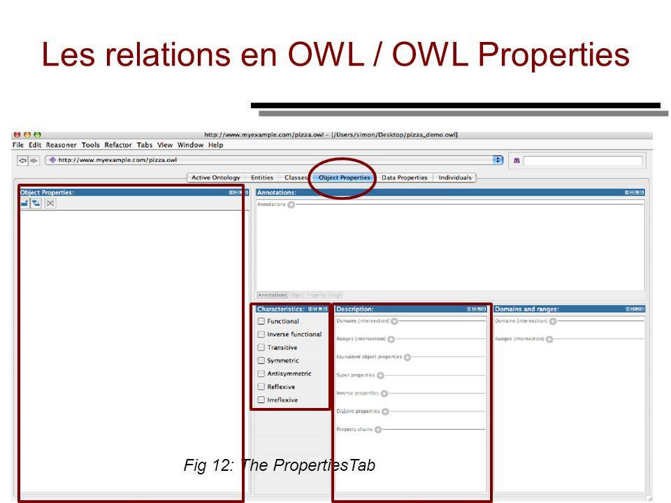 Les relations en OWL / OWL Properties