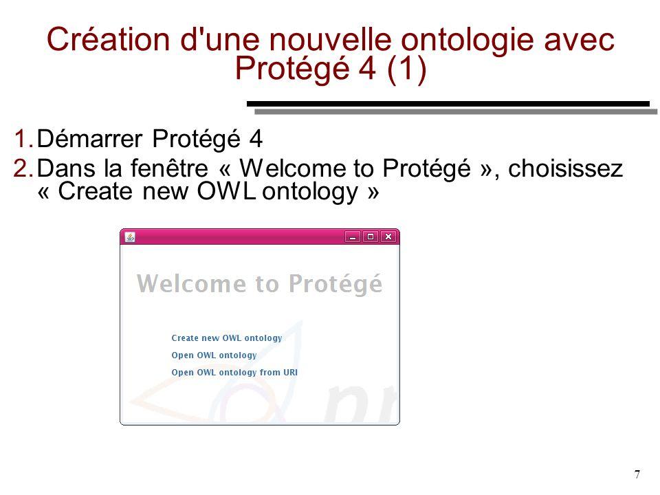 Création d une nouvelle ontologie avec Protégé 4 (1)