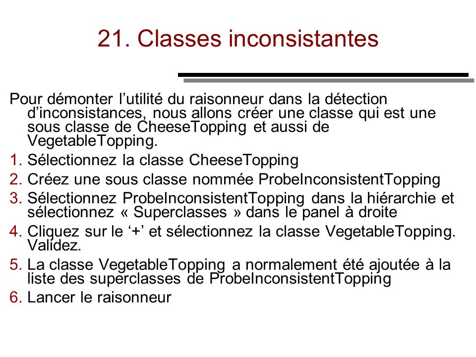 21. Classes inconsistantes