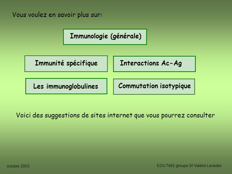 Immunologie (générale)