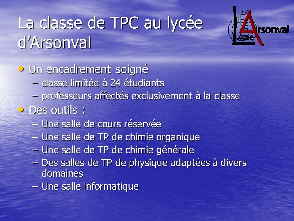 La classe de TPC au lycée d'Arsonval