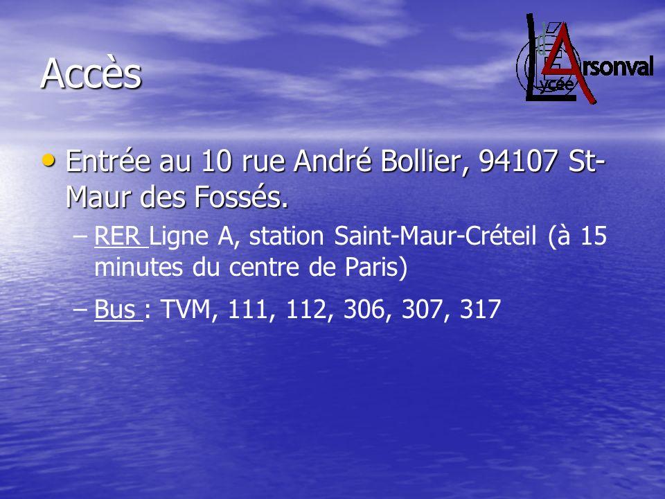 Accès Entrée au 10 rue André Bollier, 94107 St-Maur des Fossés.