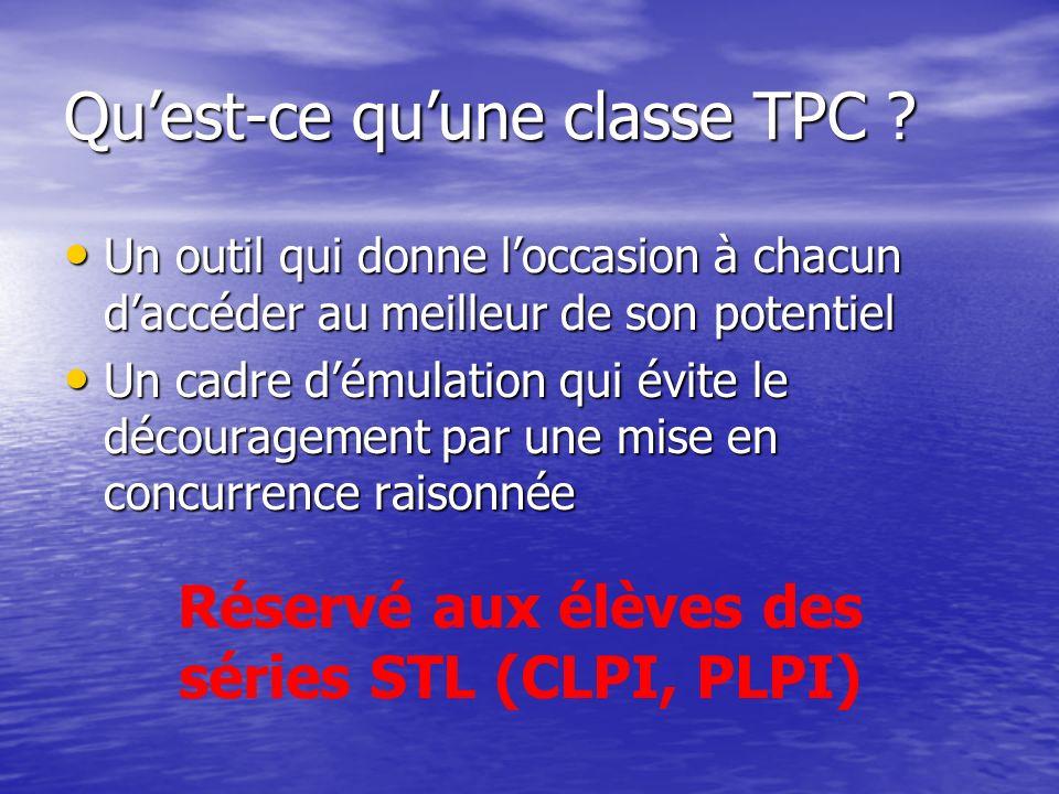 Qu'est-ce qu'une classe TPC
