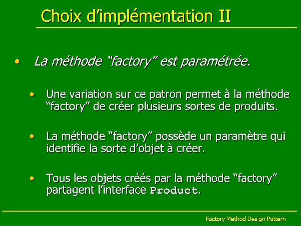 Choix d'implémentation II
