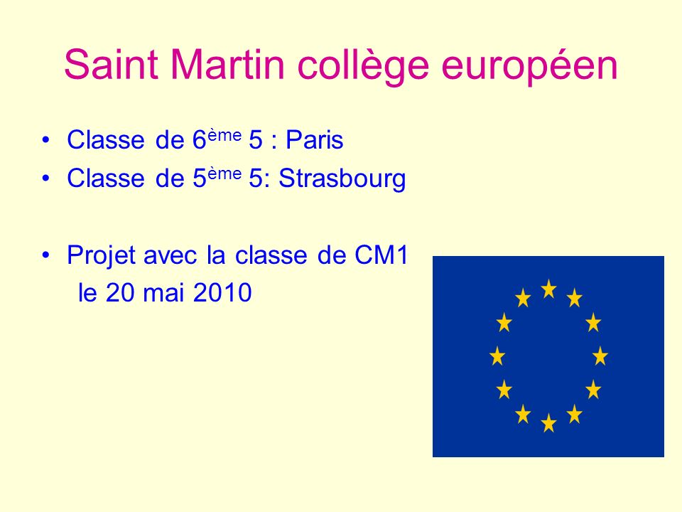 Saint Martin collège européen