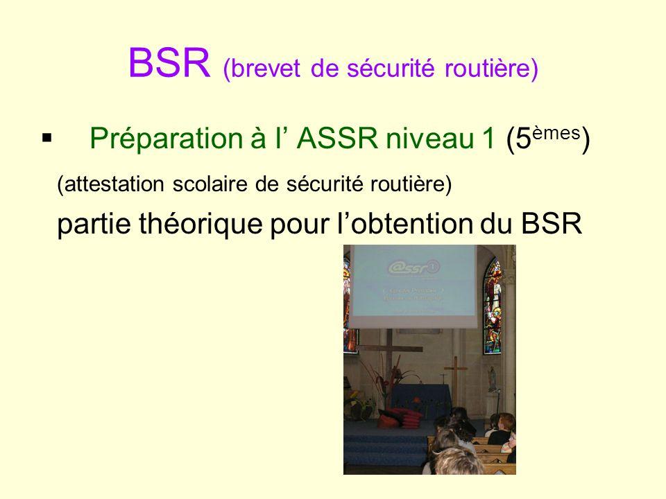 BSR (brevet de sécurité routière)
