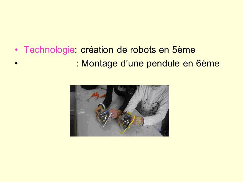Technologie: création de robots en 5ème