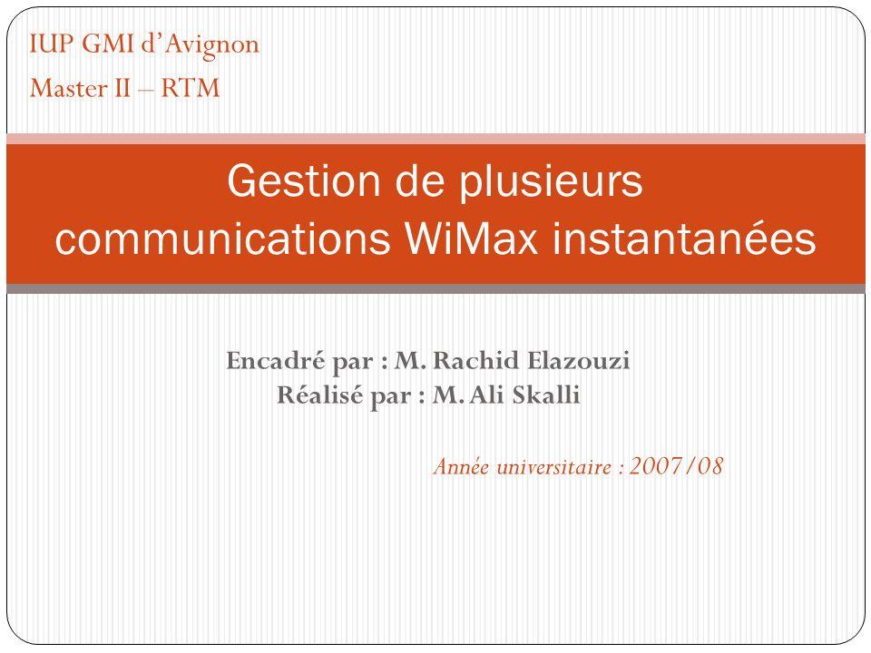 Gestion de plusieurs communications WiMax instantanées