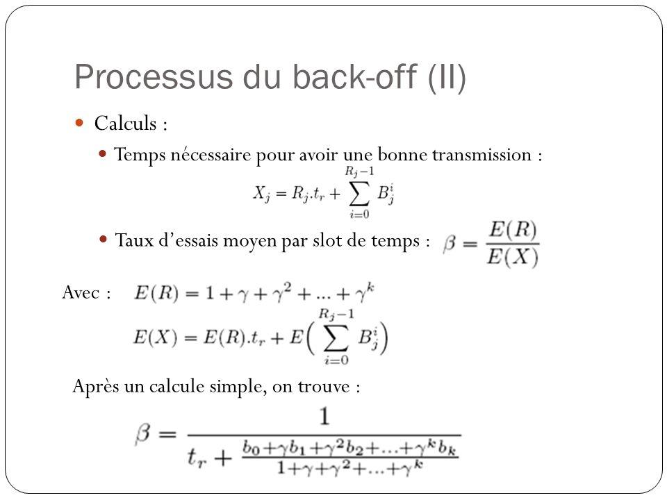 Processus du back-off (II)