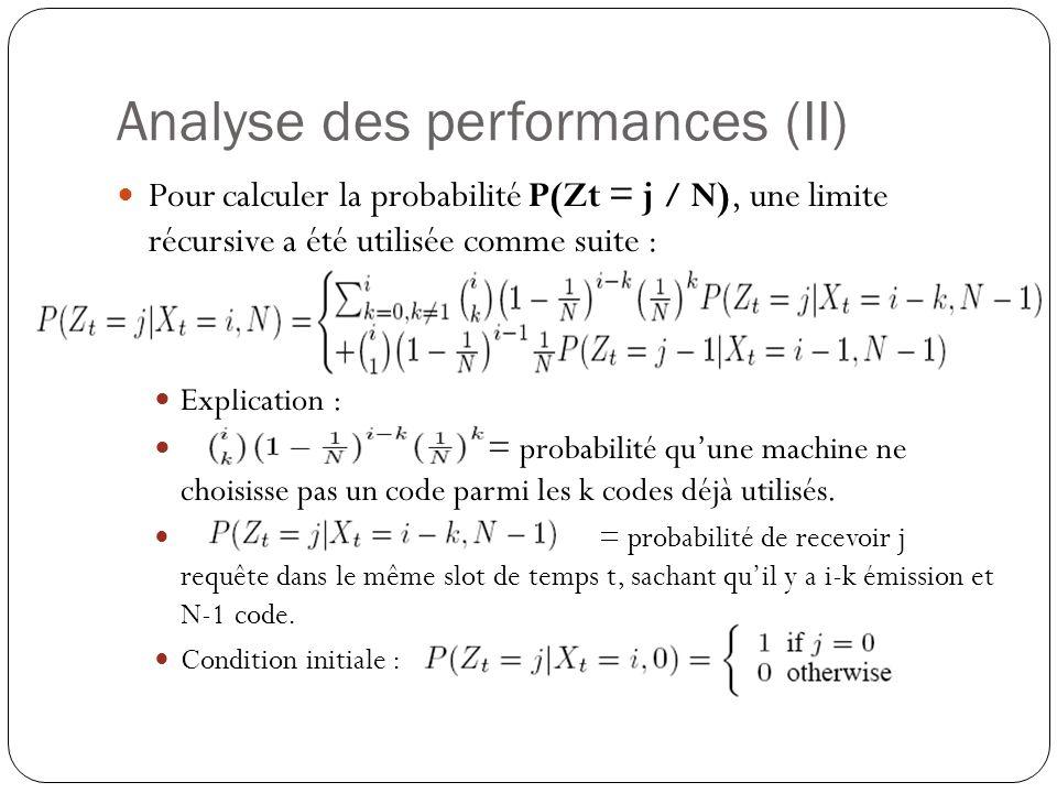 Analyse des performances (II)