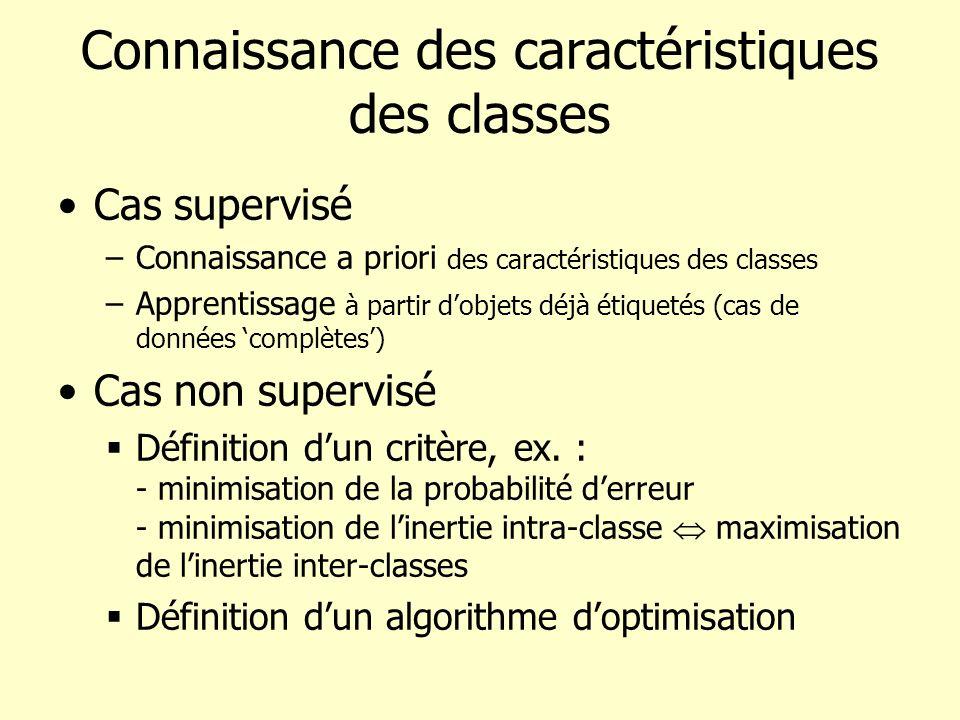 Connaissance des caractéristiques des classes