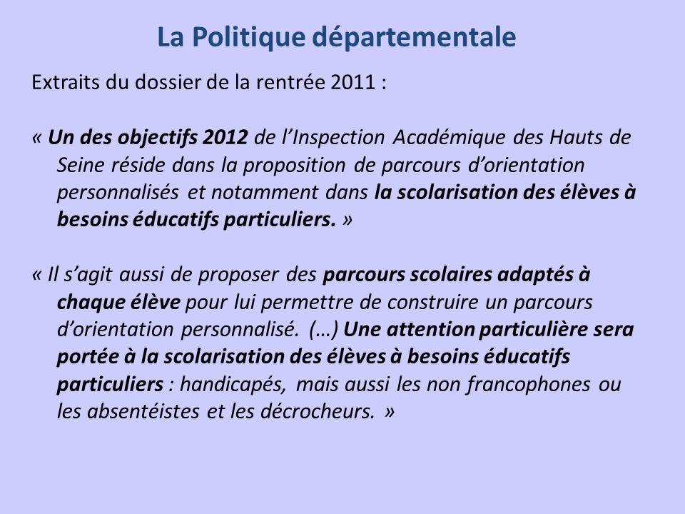 La Politique départementale