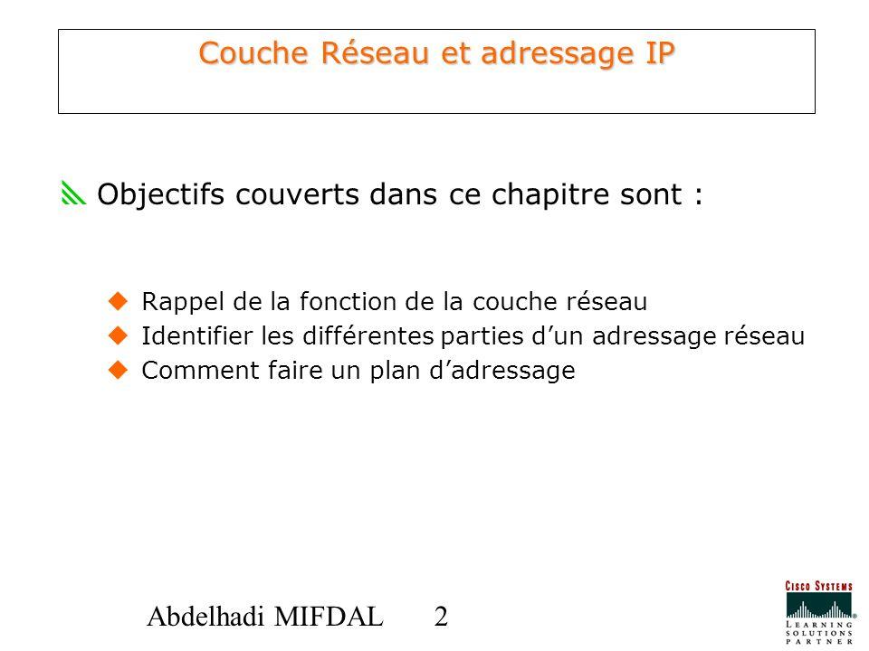 Couche Réseau et adressage IP