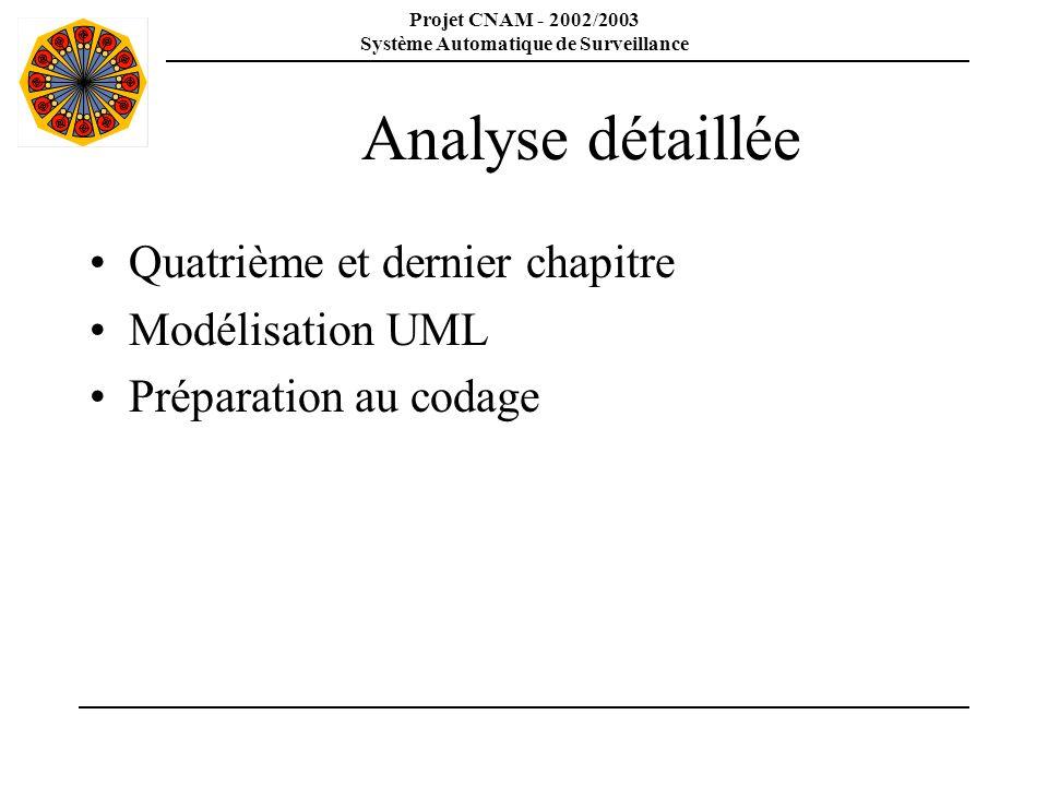 Analyse détaillée Quatrième et dernier chapitre Modélisation UML
